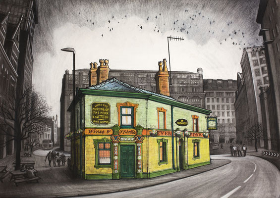 The Peveril of thePeak  charcoal and chalk
