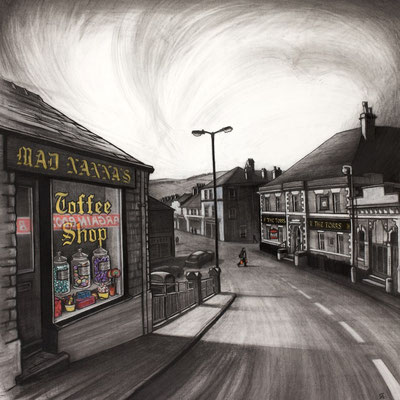 'Mad Nanna's' (charcoal and chalk)