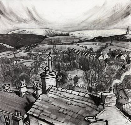 'Waiting for spring' (charcoal)