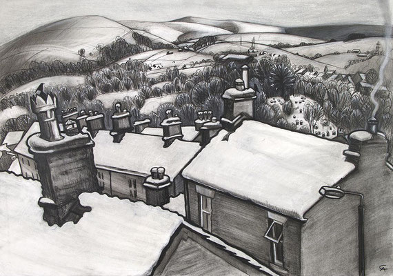 'When It Snowed' (charcoal)