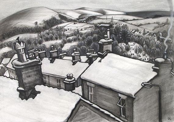 'When It Snowed' (charcoal)