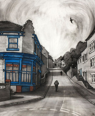 'Ron's' (charcoal and chalk)