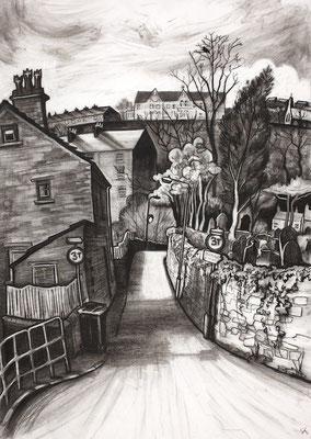 'Beep beep corner' (charcoal)
