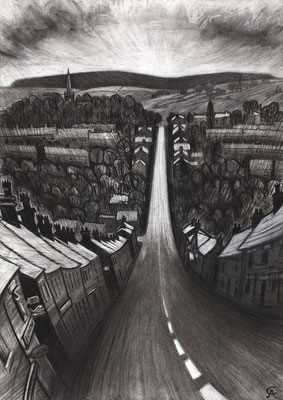 'Coming Home' (charcoal)