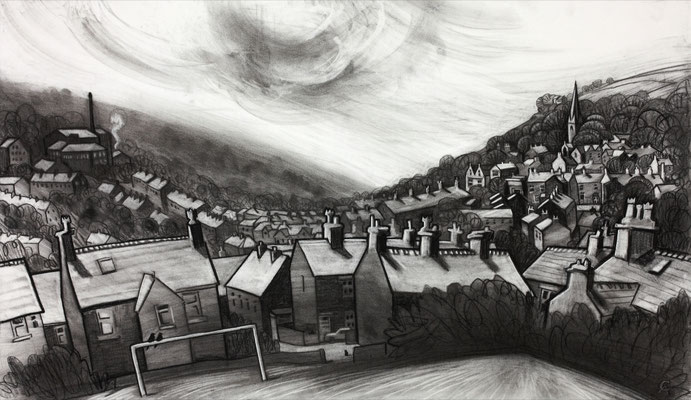 'Gina's view' (charcoal)