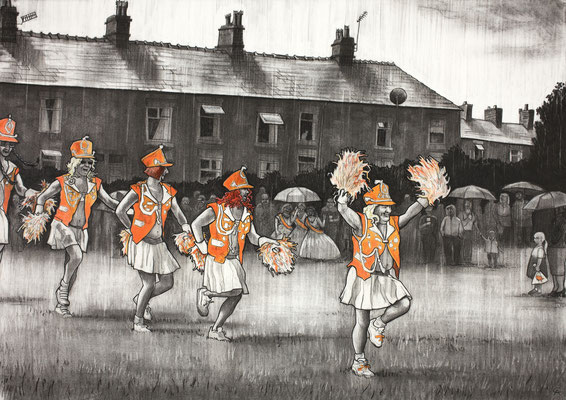 'The Billerettes' (charcoal and chalk)