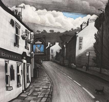 'Hurdsfield' (charcoal and chalk)