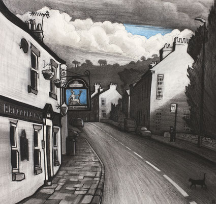 'Hurdsfield' (charcoal and chalk)