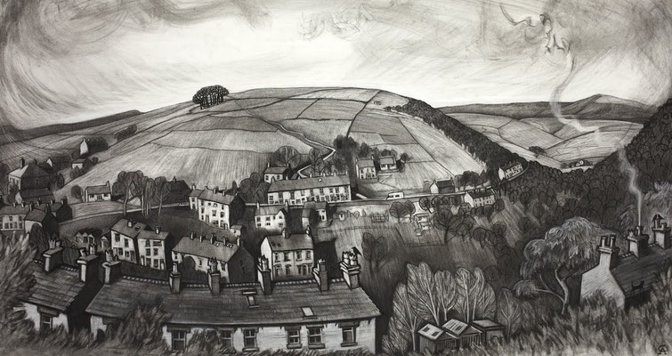 'Snake Path from Donkey Street' (charcoal)