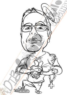 Caricatura personalizada de fotografías hecha a mano por 20€