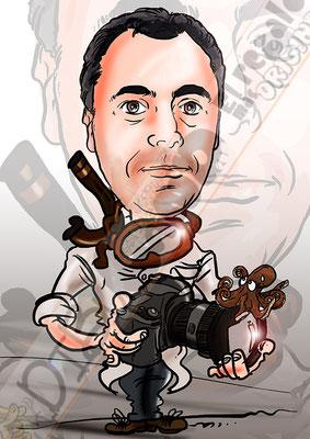 Caricatura personalizada de fotografía individual cuerpo entero, a color por 20€