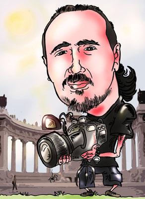 Caricatura individual a todo color, con todos los detalles: 20€