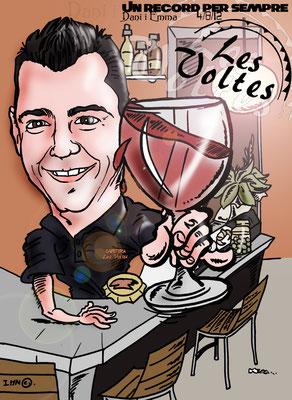 Caricatura individual a todo color, con fondo personalizado: 25€