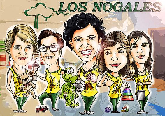 Caricatura de 5 personas a todo color y de forma personalizada: 90€