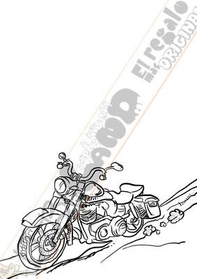 Boceto caricatura personalizada online con vehículo