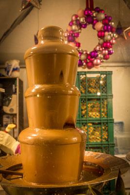 Ein Schokoladenbrunnen