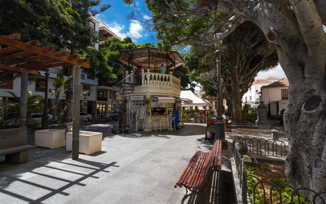 Kiosk auf dem Plaza de la Alameda, Santa Cruz