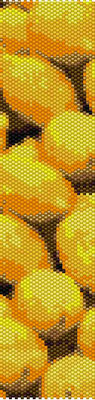 bracelet pattern, delica seed beads, peyote pattern, loom pattern, lemon bracelet, Beadwork pattern, jewelry pattern, citrus bracelet