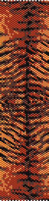 animal pattern, seed beads pattern, bracelet pattern peyote, jewelry pattern, orange bracelet, Beadwork pattern, tiger bracelet