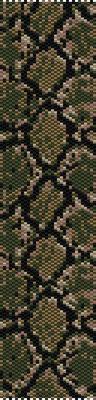 animal pattern, seed beads pattern, bracelet pattern peyote, jewelry pattern, snake boa bracelet, Beadwork pattern