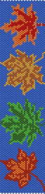 bracelet pattern, delica seed beads, peyote pattern, loom pattern, leafs bracelet, Beadwork pattern, jewelry pattern, autumn bracelet