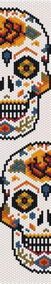 pattern halloween, seed beads pattern, pumpkins halloween, bracelet pattern peyote, jewelry pattern,  Beadwork pattern
