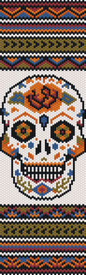 pattern halloween, seed beads pattern, pumpkins halloween, bracelet pattern peyote, jewelry pattern,  Beadwork pattern