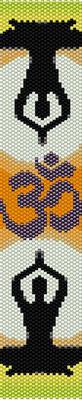 pattern yoga, seed beads pattern, bracelet pattern peyote, jewelry pattern,  Beadwork pattern, aum yoga bracelet, meditation bracelet