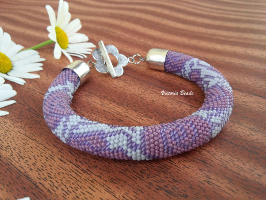Sale Women Purple Matte Beadwork Bracelet Boho Simple Bead Crochet Jewelry gift for Women girlfriend gift minimalism thin Wedding Jewelry