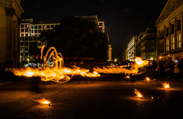 Feuerherz-Light painting
