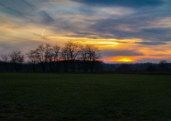 Sonnenuntergang-Naturlandschaft