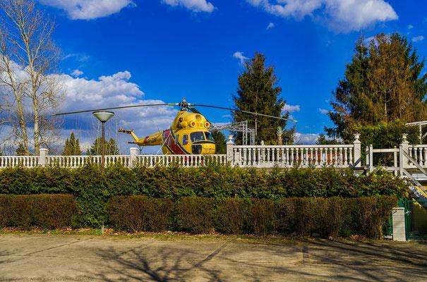 Helikopter auf einer Terasse