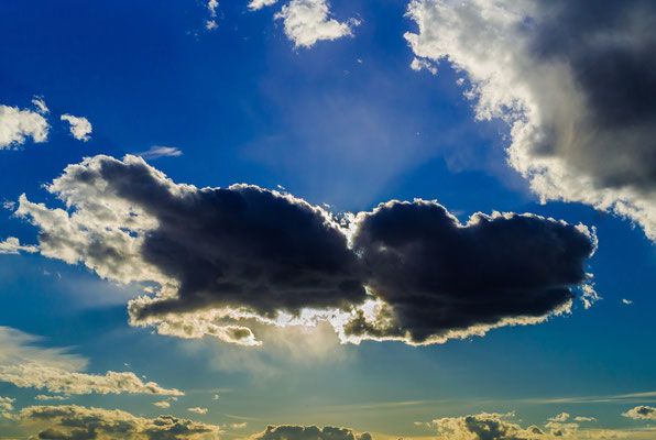 Wolken wie Herzen
