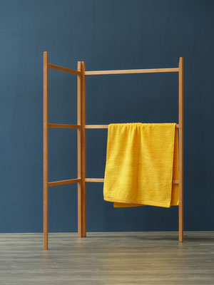 Shaker towelrack - zusammenklappbar, wurde auch zum Trocknen von Kräutern benutzt