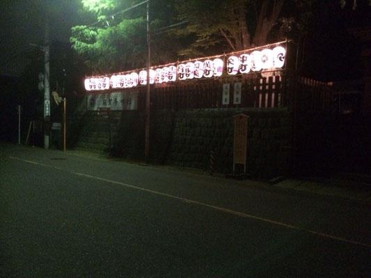麻賀多神社の提灯