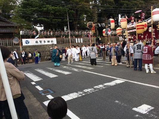 佐倉の秋祭り宮出しの写真