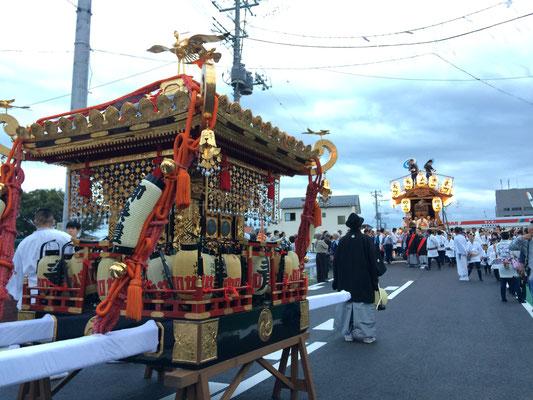 佐倉の秋祭り 樋之口橋 大神輿と表町お神酒所