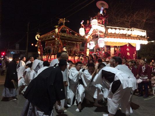 佐倉の秋祭り 宮入の様子