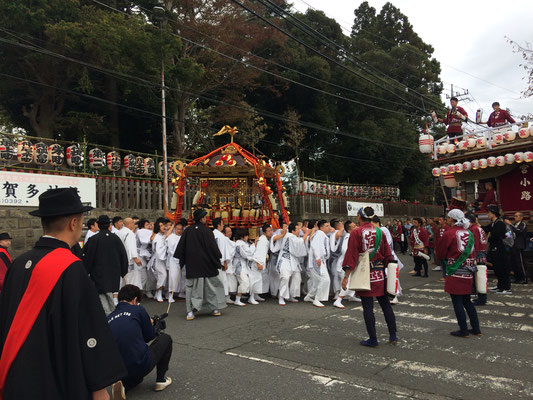 佐倉の秋祭り 宮出し 写真