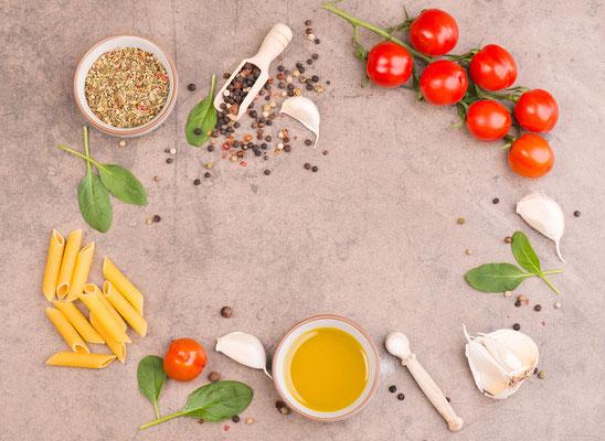 Zutaten für italienische Pasta - Restaurantfotografie Trier