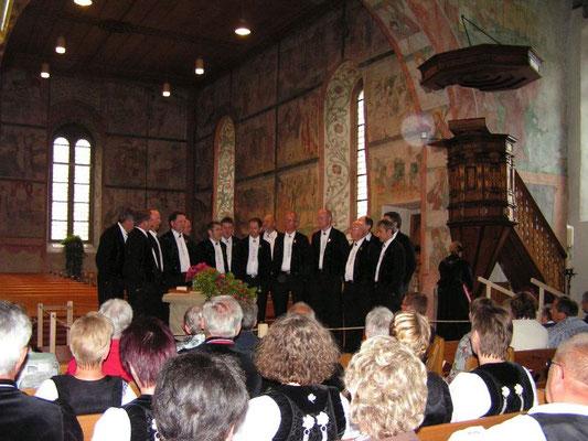 """Auftritt mit Lied """"Gott schütz mis Land"""" von Robert Fellmann"""