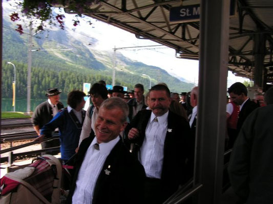 Ankunft in St. Moritz