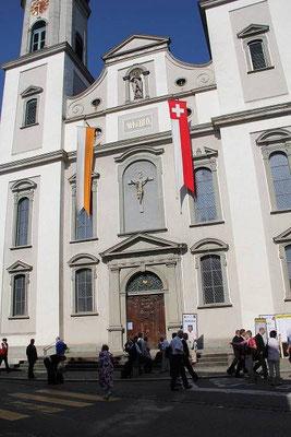 Unser Vortragslokal, die Heiligkreuzkirche in Lachen