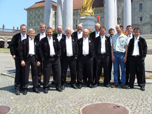 Zentralschweizerisches Jodlerfest  Einsiedeln 06,  mit Probesänger Joe Mock