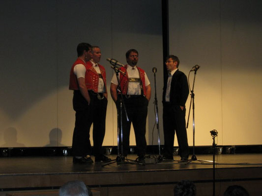 Die Säntisjodler aus Teufen (hier mit Christian Manser) überzeugten