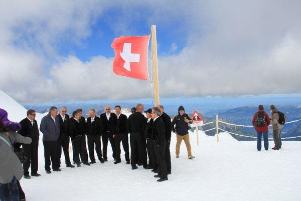 Auftitt auf dem Top of Europe