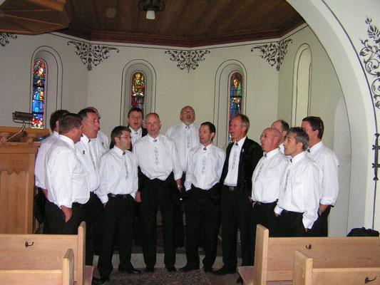 Besuch der Kapelle in Gstaad
