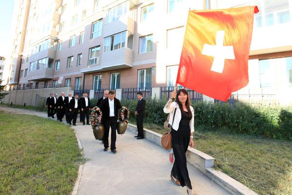Einzug in Schweizer Botschaft