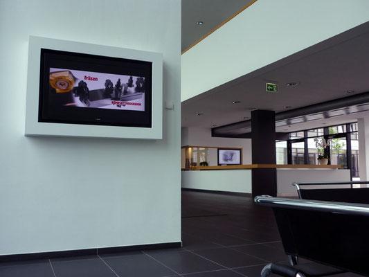 SECO TOOLS, Erkrath | DISIPOS Info-Screens im Wartebereich für Besucher und am Empfang