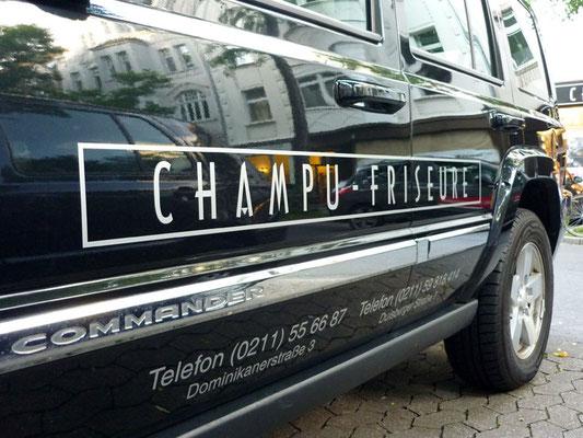 Champu Friseure, Düsseldorf | Beschriftung der Fahrzeugflotte